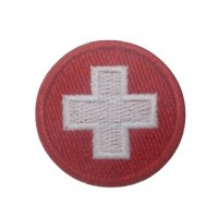 0943 Embroidered patch sew on 4x4 Switzerland flag Vespa