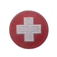 0943 Patch emblema bordado 4x4 bandeira Suiça Vespa