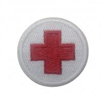 0533 Patch emblema bordado 4x4 bandeira cruz vermelho Vespa