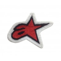 0147 Embroidered patch sew on 6x5 ALPINESTARS