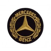 0958 Embroidered patch 5X5 MERCEDES