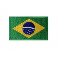 0132 Embroidered patch 6X3,7 flag BRAZIL
