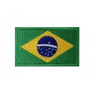 0132 Patch emblema bordado 6X3,7 bandeira BRASIL