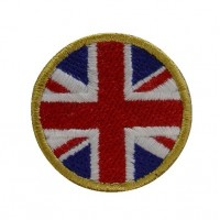 0959 Embroidered patch sew on 4x4 Union Jack flag Vespa