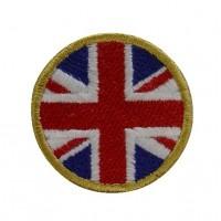 0959 Patch emblema bordado 4x4 bandeira Reino Unido Vespa