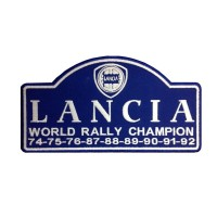 0973 Patch écusson brodé 23X13  LANCIA 9X WORLD RALLY CHAMPION