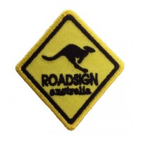 0975 Embroidered patch 8x6,5 ROADSIGN AUSTRALIA