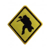 0976 Embroidered patch 8x6,5 PAINTBALL SNIPER