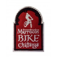 0977 Embroidered patch 10X7 MARROCOS BIKE CHALLENGE