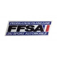 0743 Patch écusson brodé  13X4 FFSA FEDERATION FRANÇAISE SPORT AUTOMOBILE