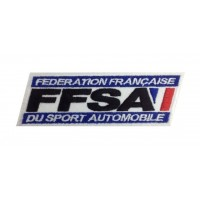 Patch emblema bordado 13x4 FFSA FEDERATION FRANÇAISE SPORT AUTOMOBILE