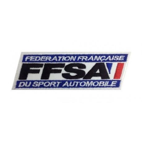 Embroidered patch 13X4 FFSA FEDERATION FRANÇAISE SPORT AUTOMOBILE