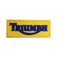0734 Patch emblema bordado 10x4 TRIUMPH MOTORCYCLES