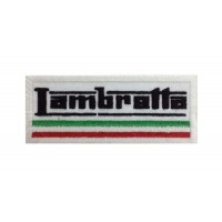 0852 Patch emblema bordado 10x4 LAMBRETTA ITALIA