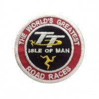 1020 Patch emblema bordado 7x7 TT ISLE OF MAN THE WORLD'S GREATEST ROAD RACES