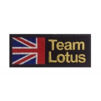 0679 Patch emblema bordado 10x4 TEAM LOTUS UNION JACK UK