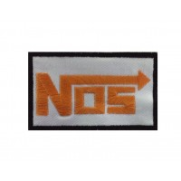 0138 Patch emblema bordado 10x6 NOS nitrous oxide system
