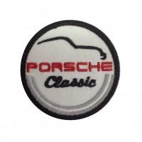 1038 Patch emblema bordado 7x7 PORSCHE CLASSIC
