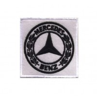 Embroidered patch 7x7 Mercedes