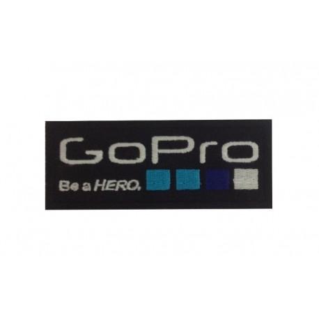 1068 Patch emblema bordado 10x4 GOPRO BE A HERO GO PRO
