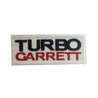 1075 Patch écusson brodé 10x4 TURBO GARRETT