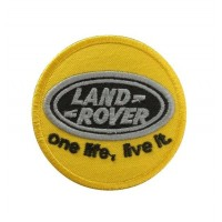 1082 Patch emblema bordado 7x7 LAND ROVER ONE LIFE , LIVE IT