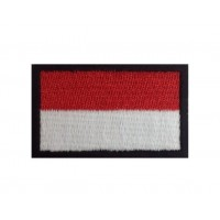 1090 Patch emblema bordado 6X3,7 bandeira MONACO MONTE CARLO