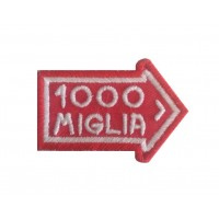 1091 Embroidered patch 6X4 1000 MIGLIA