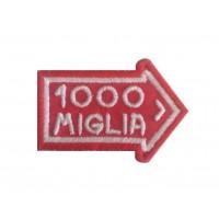 1091 Patch écusson brodé 6X4 1000 MIGLIA