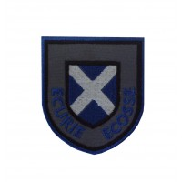 1094 Embroidered patch 7x6 ECURIE ECOSSE
