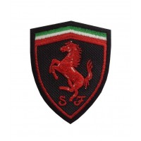 0515 Patch emblema bordado 7x5 FERRARI