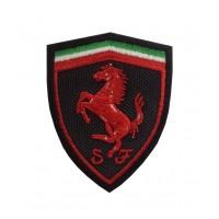 0515 Parche emblema bordado 7x5 FERRARI