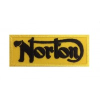 0727 Embroidered patch 10x4 NORTON MOTORCYCLES