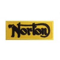 0727 Patch emblema bordado 10x4 NORTON MOTORCYCLES