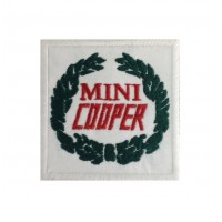 0252 Embroidered patch 7x7 MINI COOPER