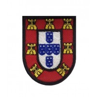 0602 Patch emblema bordado 7X5 ESCUDO PORTUGAL