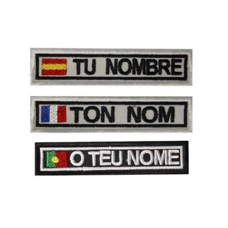 1102 2x Patch emblema bordado personalizado 2,5cm de largo