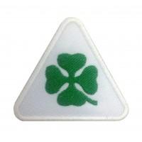 1103 Patch emblema bordado 9X7 ALFA ROMEO QUADRI FOGLIO