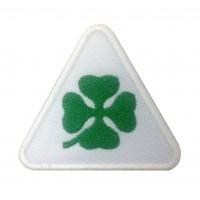 1104 Patch emblema bordado 9X7 ALFA ROMEO QUADRI FOGLIO