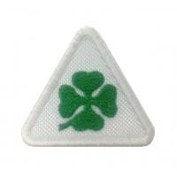 1107 Patch emblema bordado 6X5 ALFA ROMEO QUADRI FOGLIO