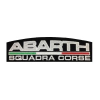 1111 Embroidered patch 22X7 ABARTH ITALY SQUADRA CORSE
