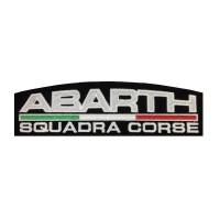 1111 Patch écusson brodé 22X7 ABARTH ITALIE SQUADRA CORSE