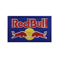 0114 Royal blue embroidered patch 10x6 RED BULL