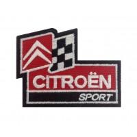1116 Patch emblema bordado 9x7 CITROEN SPORT