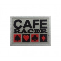 1128 Embroidered patch 8x6 CAFE RACER