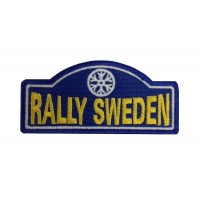 1138 Embroidered patch 10x4 RALLY SWEDEN