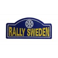 1138 Patch emblema bordado 10x4 RALLYE  SUECIA