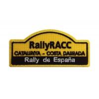 1139 Patch écusson brodé 10x4 RALLYE RACC ESPAGNE CATALOGNE