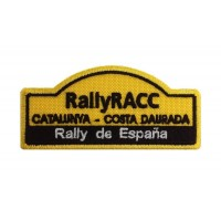 1139 Patch emblema bordado 10x4 RALLY RACC ESPANHA CATALUNIA
