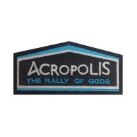 1140 Patch emblema bordado 10x4 RALLY ACROPOLIS GRECIA